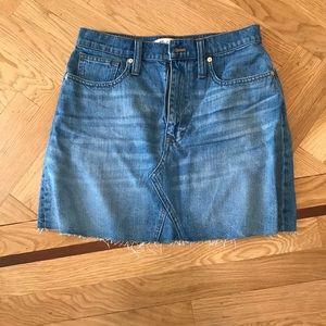 Madewell mini jean skirt